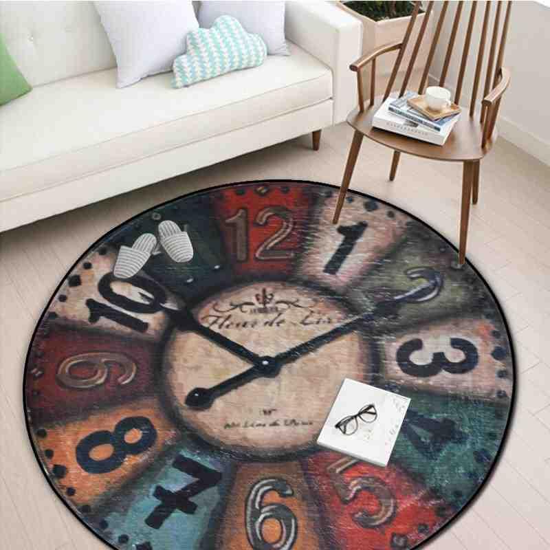 Tapis-Horloge vintage