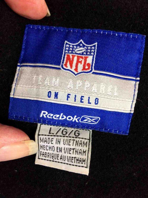 Veste Raiders Oakland Reebok NFL Laine Cuir Gabba Vintage 2 - Veste Raiders Oakland Reebok NFL Laine Cuir
