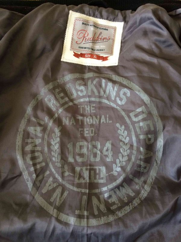 Veste Redskins Teddy Cuir Laine College 1984 Gabba Vintage 3 - Veste Redskins Teddy Cuir Laine College 1984