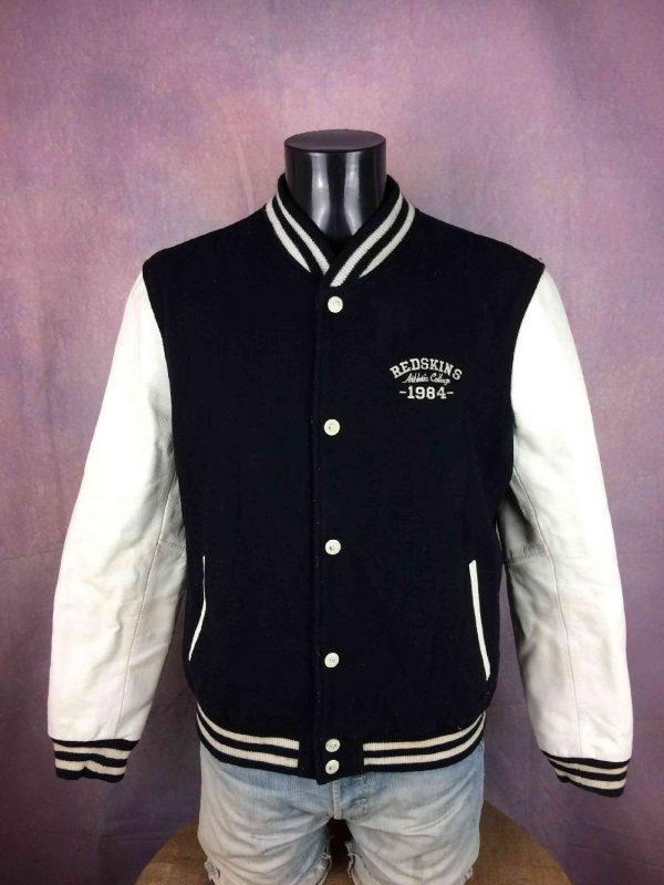 Veste Redskins Teddy Cuir Laine College 1984 - Gabba Vintage