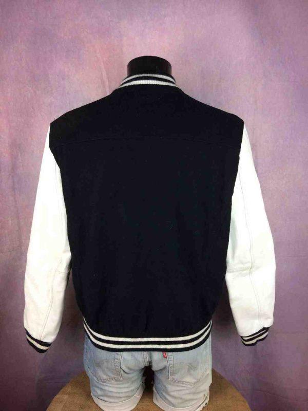 Veste Redskins Teddy Cuir Laine College 1984 Gabba Vintage 9 - Veste Redskins Teddy Cuir Laine College 1984