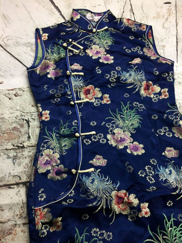 YHSL Robe Traditionnelle Chinoise Année 90s - Gabba Vintage