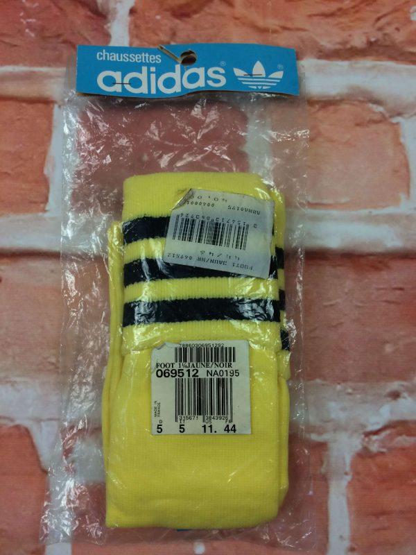 ADIDAS Chaussettes, Made in France, véritable vintage années 80s, NOS Neuf avec Etiquette old school Skate Football 44 Shoes