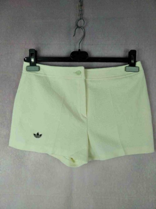 Shorts Adidas, Véritable vintage années 80s, Made in France, Trefoil cousu, Taille M, Couleur Jaune, Tennis Sports Homme