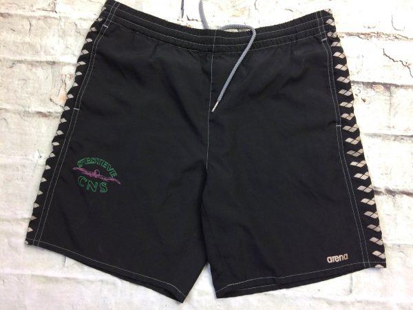 Shorts ARENA , floqué au club de natation Saint Esteve CNS, élastique et cordon de serrage, 2 poches, Bermuda Maillot Bain Swimsuit