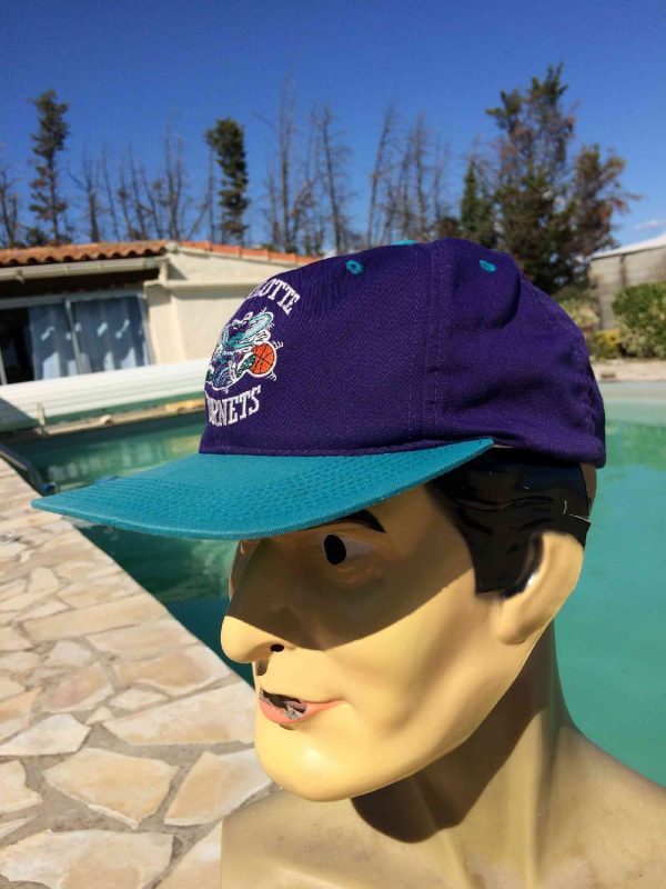 CHARLOTTE HORNETS Casquette Vintage 90s NBA Gabba Vintage 4 - CHARLOTTE HORNETS Casquette Vintage 90s NBA Sport Specialities Basketball