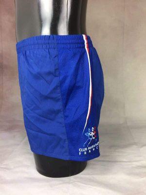 Shorts Club Marathon France, Intérieur Doublé, Elastique et Cordon de Serrage, Taille S, Couleur Bleu Blanc Rouge, Sport Running Sprint Homme Unisexe