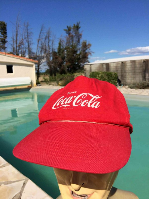 Casquette COCA COLA, véritable vintage années 90, Official Licence, Street Cap Gorra Hat Cotton Pop Soda Snapback Tour de France