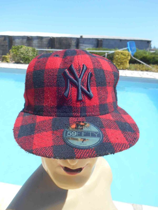 Casquette NY New Era 59 Fifty Plaid Laine Gabba Vintage 3 - Casquette NY New Era 59 Fifty Plaid Laine