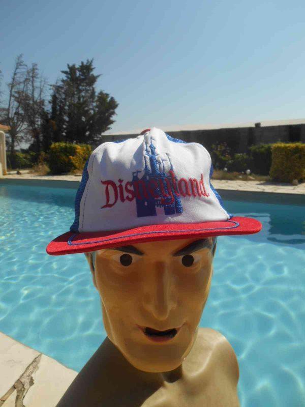 Casquette DISNEYLAND, véritable vintage années 80s, de marque Olympian Headwear, Official Licence Disney Productions, TopCap Gorra Hat Mesh
