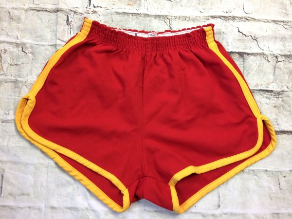 Shorts DON ALLESON ATHLETIC, Rochester NY, Véritable vintage années 70s, 100% nylon, élastique de serrage, échancré, Unisex Sport Old School