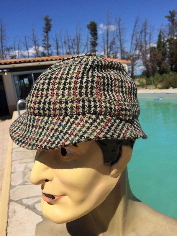 DUNN AND CO Chapeau Vintage 60s Tweed Laine Gabba Vintage 3 - DUNN AND CO Chapeau Vintage 60s Tweed Laine