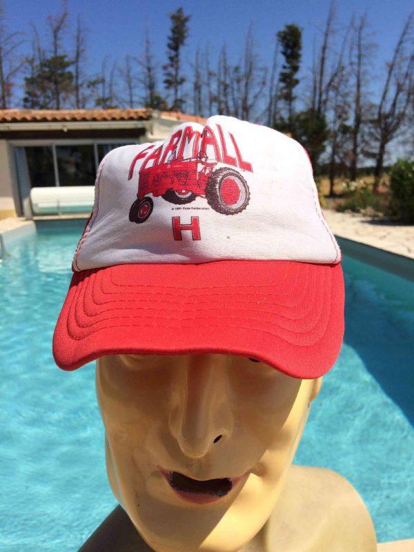 Casquette FARMALL H, marque Case Corporation, Official Licence, année 1991, véritable vintage 90s Cap Gorra Hat Tracteur Récolte Agriculture Iconic