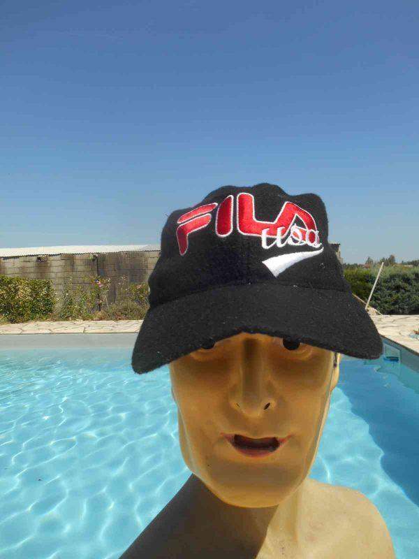 Casquette FILA USA, véritable vintage années 90, Made in Taiwan, 30% Laine Tennis Y2K Street Cap Gorra Hat
