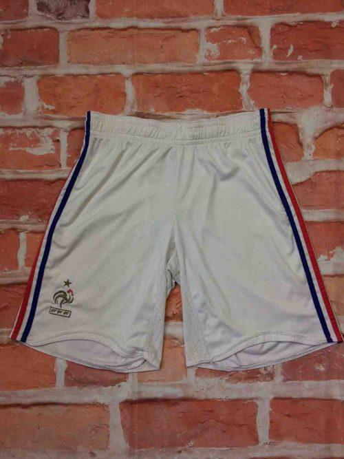 Shorts France, version Home, saison 2006 - 2008, Euro Cup 2008, de marque Adidas daté du 12/07, Vintage 00s, technologie Clima365, taille élastique et cordon, FFF Team Football Homme