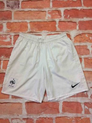 Shorts France, Euro Cup 2012, version Home, de marque Nike technologie Dri Fit, taille élastique et serrage cordon, FFF Team Football Sports