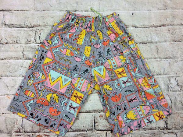FRANCOIS PASCAL Maillot de Bain homme, Shorts, Caleçon long, véritable vintage années 80, élastique et cordon de serrage, 1 poche arrière, Neuf, en sachet, Sport Beach Wear Swim Design
