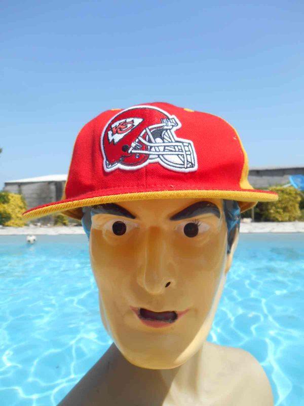 Casquette KANSAS CITY CHIEFS, de marque Reebok,édition NFL Headwear, license officielle, 100% laine, Snapback Top Cap Gorra Hat