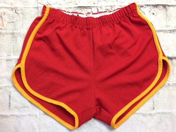 Shorts MJ SOFFE COMPANY, Véritable vintage années 70s, Made in USA, élastique de serrage, 2 poches, échancré, Unisex Sport Old School