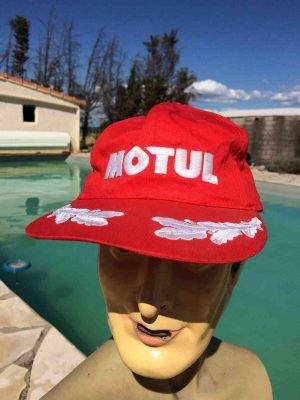 Casquette MOTUL, véritable vintage années 90, Street Cap Gorra Hat Podium Huile Motos Competition F1