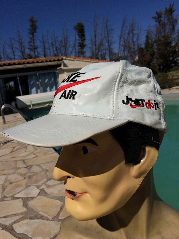 NIKE AIR Casquette Vintage Cuir Just Do It Gabba Vintage 4 - NIKE AIR Casquette Vintage Cuir Just Do It