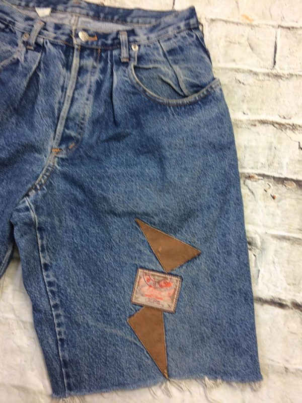 OBER Shorts Vintage 90s Made In France Patchs 12 rotated - OBER Shorts Vintage 90s Made In France Patchs