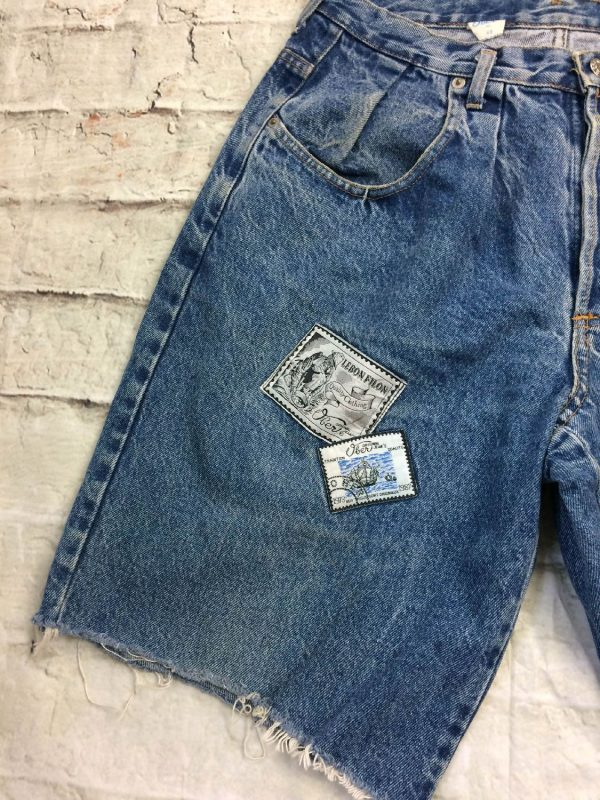 OBER Shorts Vintage 90s Made In France Patchs 13 rotated - OBER Shorts Vintage 90s Made In France Patchs