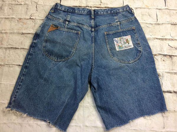 OBER Shorts Vintage 90s Made In France Patchs 16 rotated - OBER Shorts Vintage 90s Made In France Patchs