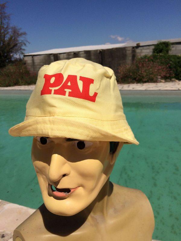 Bob PAL, véritable vintage années 80s, marque Arela Paris, Made in Honk Kong, Publicité France Sun Hat Floppy Cap Gorra