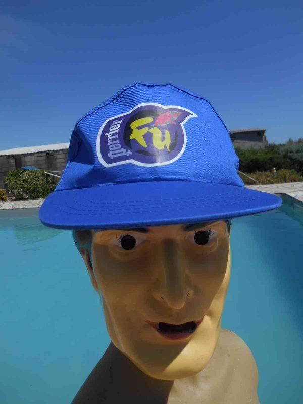 Casquette PERRIER Fu, année 1996, véritable vintage années 90, 100% coton, Old-school Publicité Gorra Hat Cap France