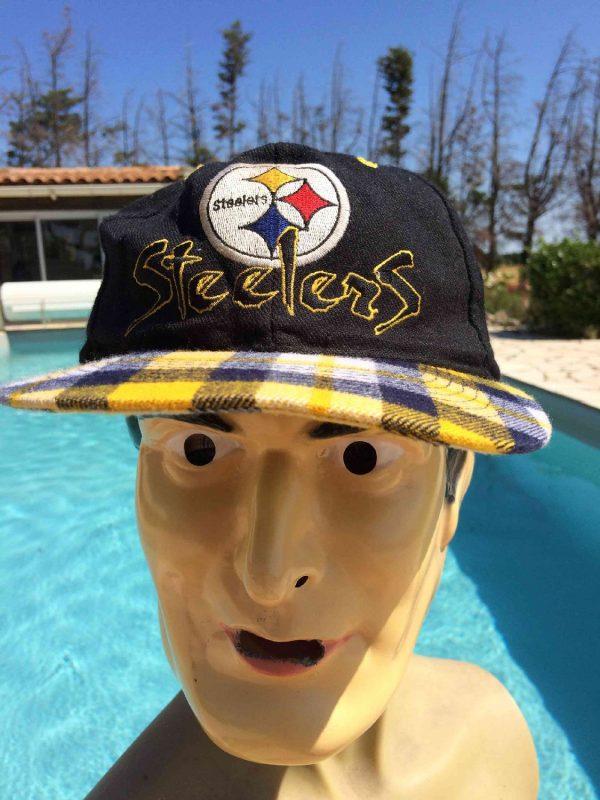 Casquette PITTSBURGH STEELERS, Marque Team NFL, Véritable vintage années 90, 15% Laine, Made in Thailand, Y2K Street Cap Gorra Hat Football