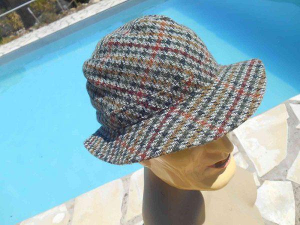 PRINTEMPS Chapeau Vintage 70s Tweed Laine Gabba Vintage 3 - PRINTEMPS Chapeau Vintage 70s Tweed Laine