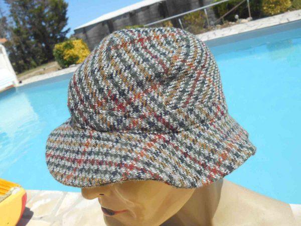 PRINTEMPS Chapeau Vintage 70s Tweed Laine Gabba Vintage 4 - PRINTEMPS Chapeau Vintage 70s Tweed Laine