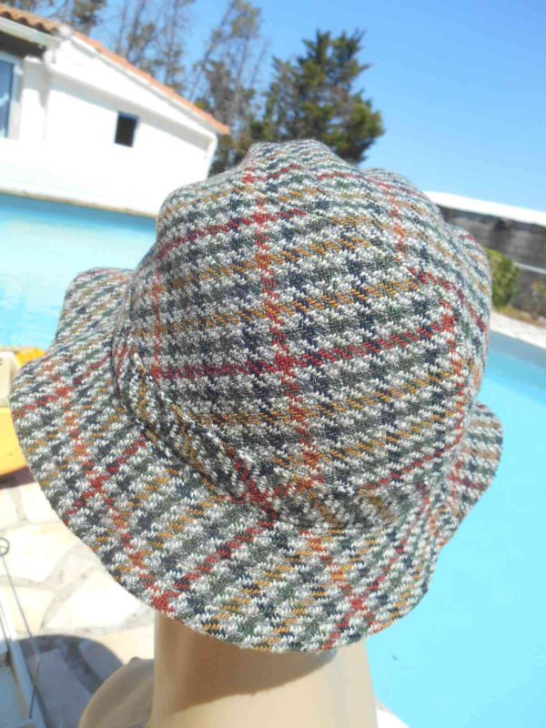 PRINTEMPS Chapeau Vintage 70s Tweed Laine Gabba Vintage 5 - PRINTEMPS Chapeau Vintage 70s Tweed Laine