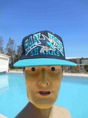 Casquette SAN JOSE SHARKS, Marque Mitchell & Ness, 100% Laine Y2K Street Cap Gorra Hat NHL Hockey