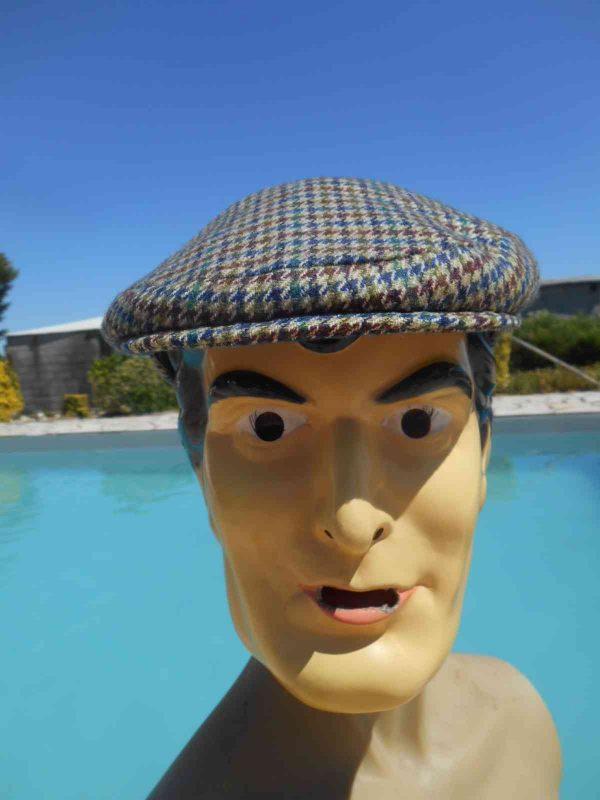 Casquette SPORT MATCH, véritable vintage année 60s, doublé, 100% pure laine, Top Cap Gorra Hat Old-school
