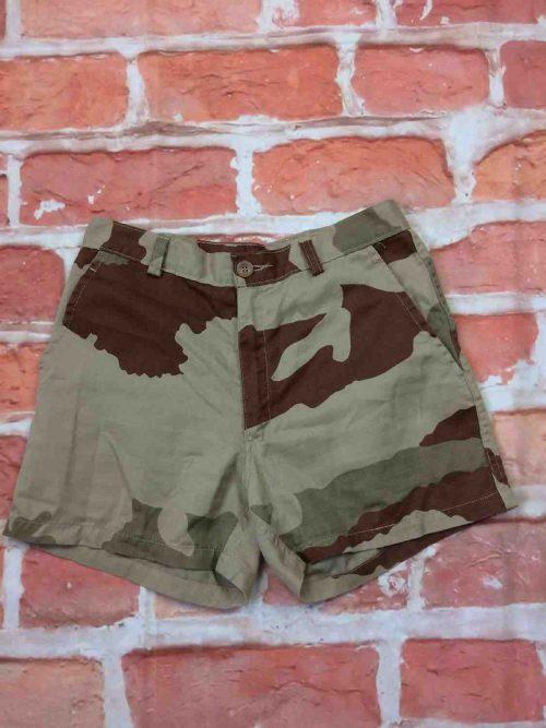 Armée Française Shorts, TraitementAnti Moustiques, Marque Transconfection, référence Kazanlak 2015, Taille S, Couleur Camouflage, Unisex