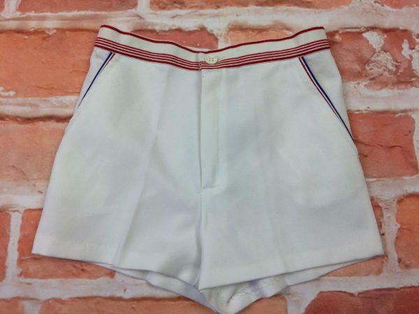 Shorts SUN BEACH, Made in France, véritable vintage années 80, taille enfant 12 ans, 2 poches, bleu blanc rouge, Tennis Sports Old School Court