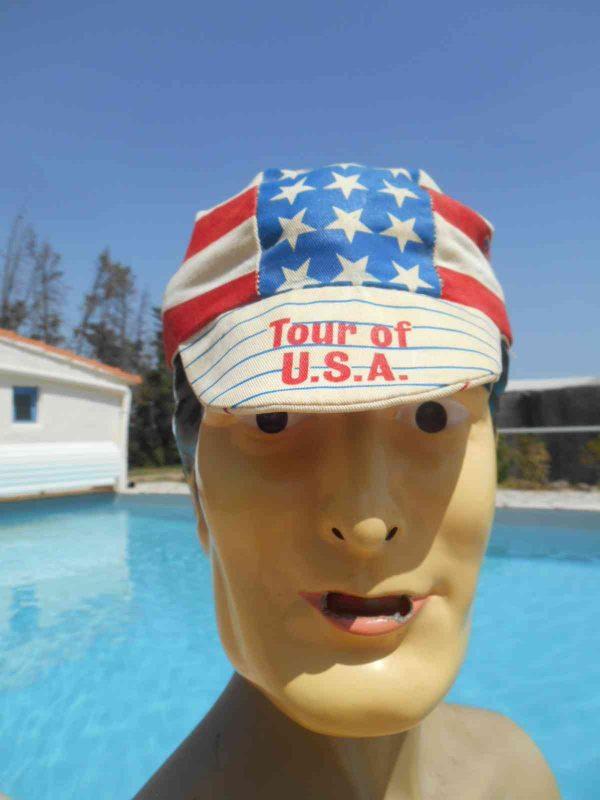 Casquette TOUR OF USA, marque Genpro, véritable vintage année 80s, Made in USA, Cyclisme Eroica Vélo Top Cap Gorra Hat