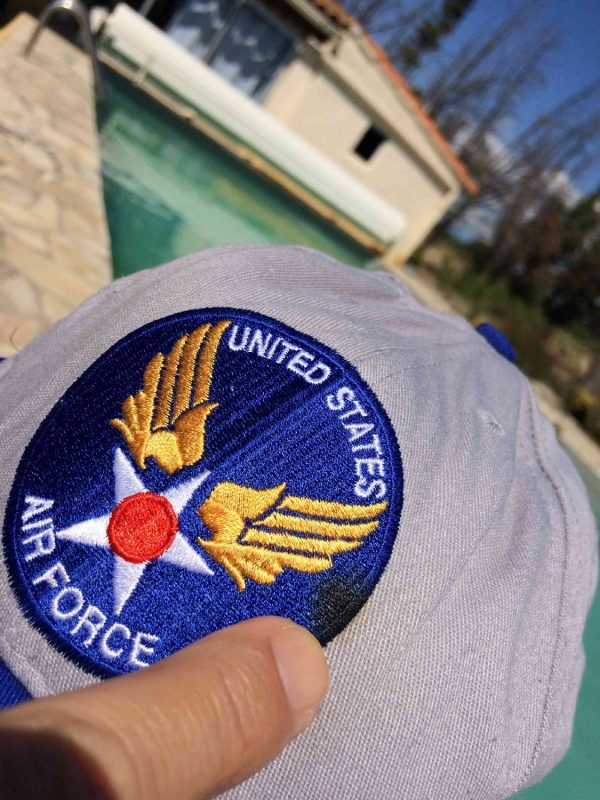 US AIR FORCE Casquette Vintage Aim High Armee Gabba.. 4 - US AIR FORCE Casquette Vintage Aim High Armée