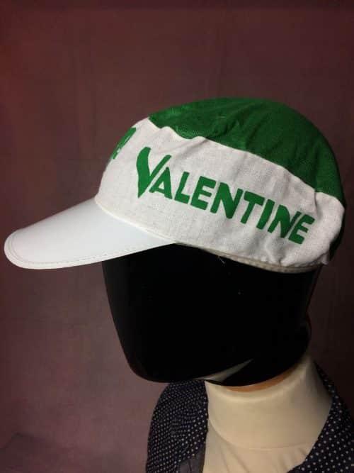 Casquette VALENTINE, Véritable vintage années 80, Neuf jamais porté, Old School NOS Jamais Porté, Objet publicitaire, Cyclisme Eroica Fixie Vélo Cap Gorra Hat