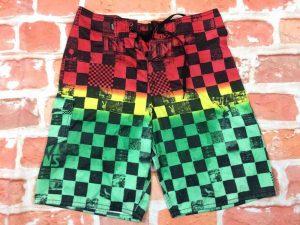 VANS Maillot de Bain homme, Shorts, Caleçon, année 2012, doublé, cordon de serrage, Sport Beach Wear Swim Punk Hardcore Surf Damiers