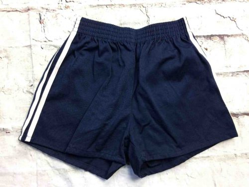 Shorts vintage 80s, Made in Hong Kong, taille enfant 12 ans, taille élastique, 2 bandes, 100% coton, Sports Old School