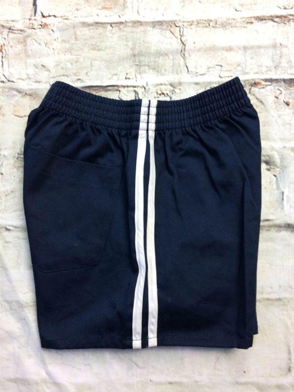 VINTAGE 80s Shorts Made in Hong Kong Navy Gabba Vintage 3 rotated - VINTAGE80sShortsMade in Hong Kong Navy 12
