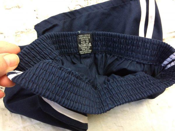 VINTAGE 80s Shorts Made in Hong Kong Navy Gabba Vintage 5 rotated - VINTAGE80sShortsMade in Hong Kong Navy 12