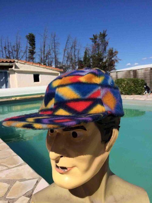 Casquette vintage , véritable années 90s, Laine Polaire, Neuve, Jamais portée, Design PsychéCap Gorra Hat