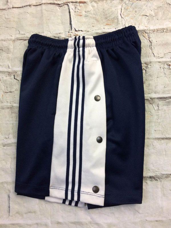 Shorts à pressions latérales, véritable vintage années 90s,Made in Spain, élastique et cordon de serrage, sports basketball streetwear rave