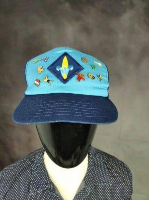 Casquette Webelos Boy Scout, 11 Pins, Véritable vintage années 90, Made in USA, Taille Unique, Couleurs Bleu - Bleu Foncé, Unisexe