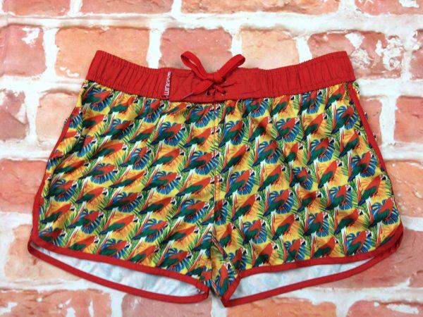 WINKICE Maillot de Bain homme, Shorts, Caleçon, Beach Wear, élastique et cordon de serrage, 1 poche arière fermée par scratch , Sport Swim Design Perroquet