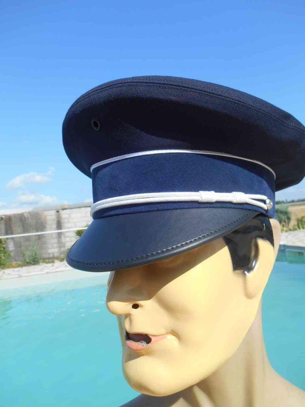 Casquette ARMOR DEVELOPPEMENT, véritable vintage, Visière et liseré blanc, Marine, Top Cap Gorra Hat Old-school Armée Navy